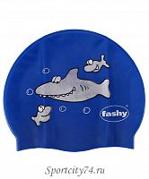 Шапочка для плавания Fashy Childrens Silicone Cap 3047 с рисунком